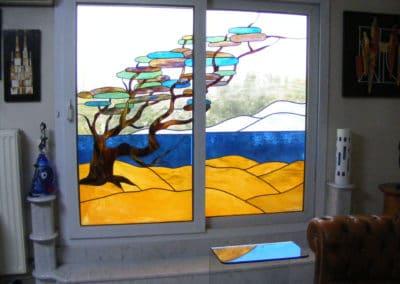 Rénovation vitraux ancone