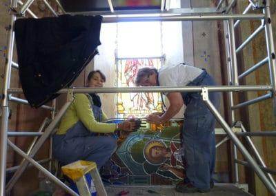 Restauration vitrail ancone
