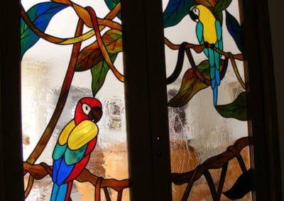 Création vitrail ancone