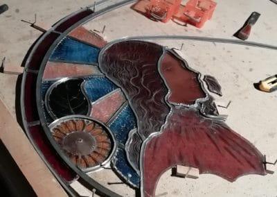 Création vitrail Drôme