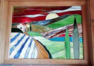 Peinture vitrail ancone